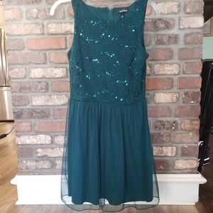 Speechless Sleeveless Green Dress with Lace Size 7